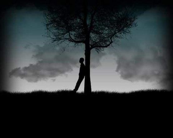عکس پروفایل مفهومی غمگین سیاه و سپید