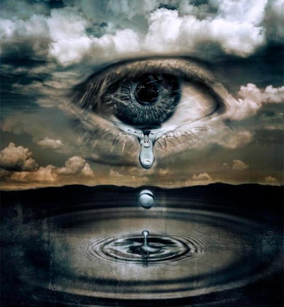 عکس پروفایل مفهومی با موضوع اشک و گریه