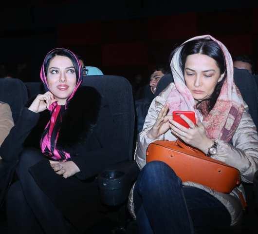 لیلا اوتادی در اکران فیلم سه بیگانه