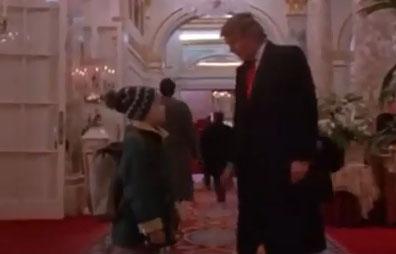 بازیگری ترامپ در فیلم تنها در خانه 2